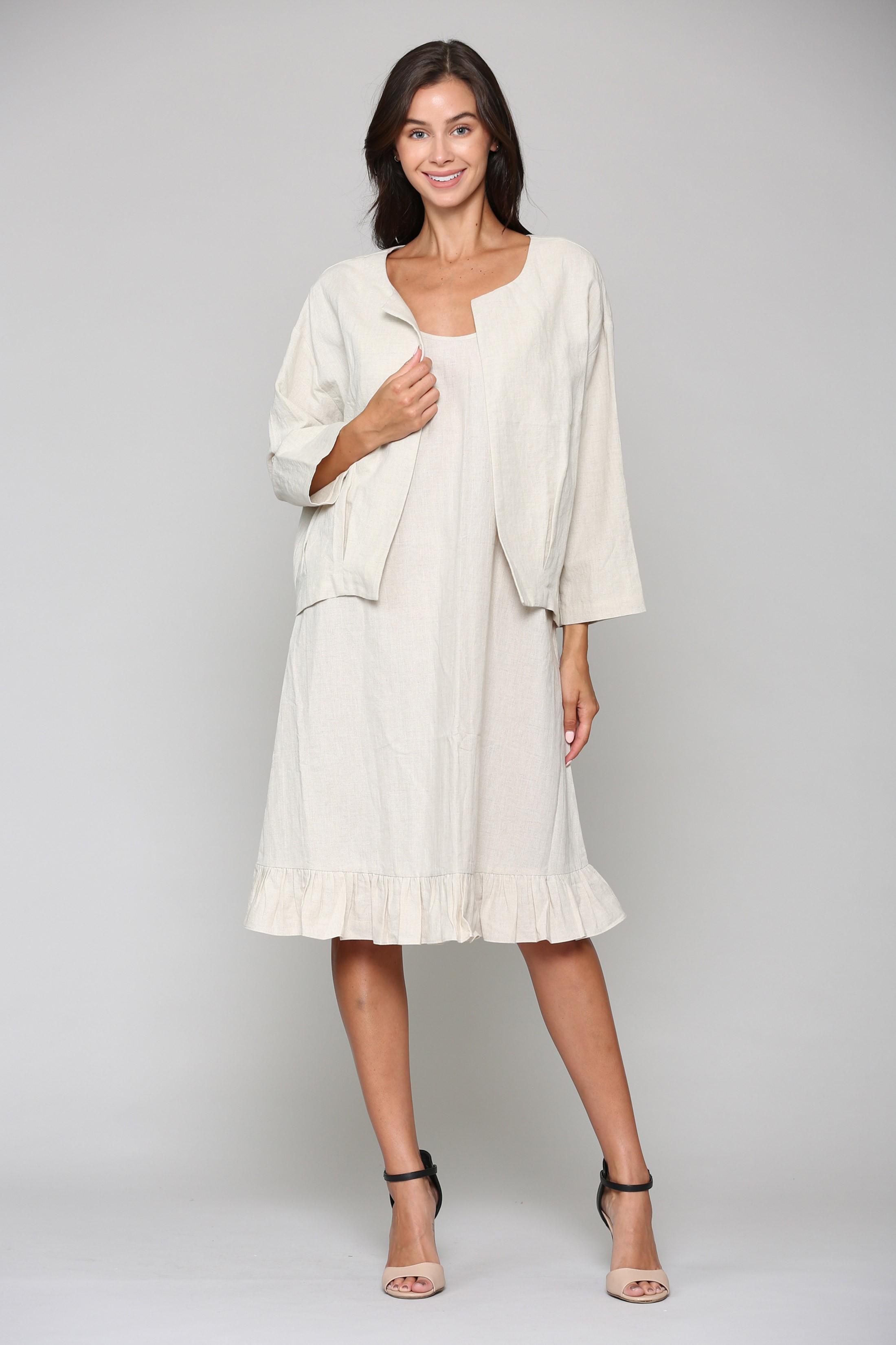 Lulu Jacket - Off White - Front