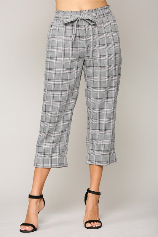 Wiley Pants -Plaid - Front