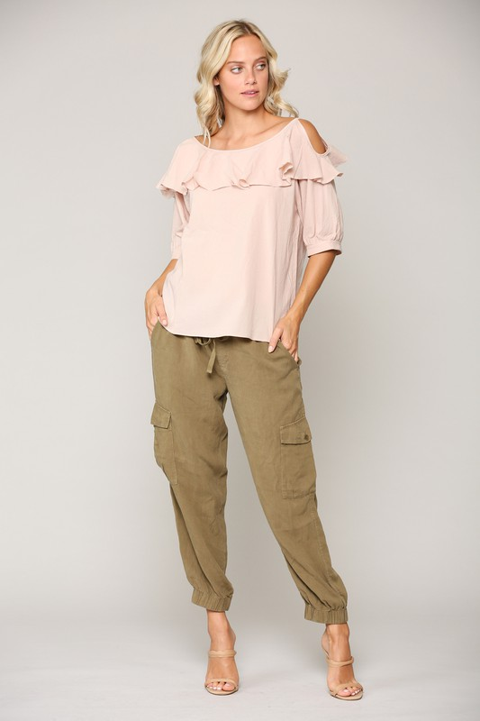 Whitney Top -Blush - Front