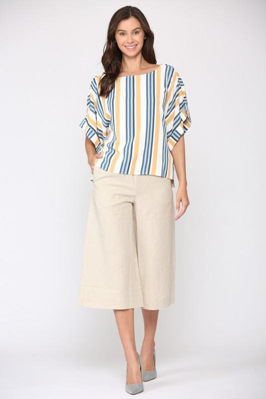 Whynsy Stripe Top -Multi stripe - Front