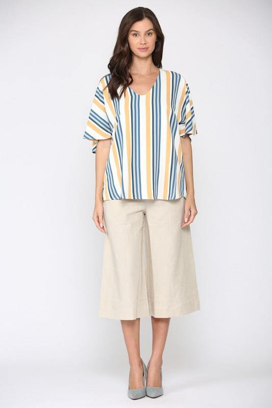 Windelle Stripe Top -Multi stripe - Front
