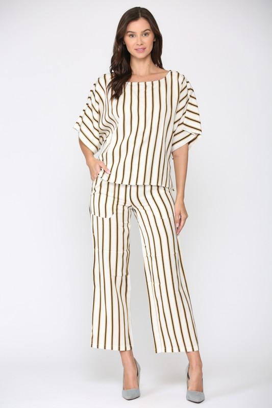 Wilda Stripe Top -Multi stripe - Front