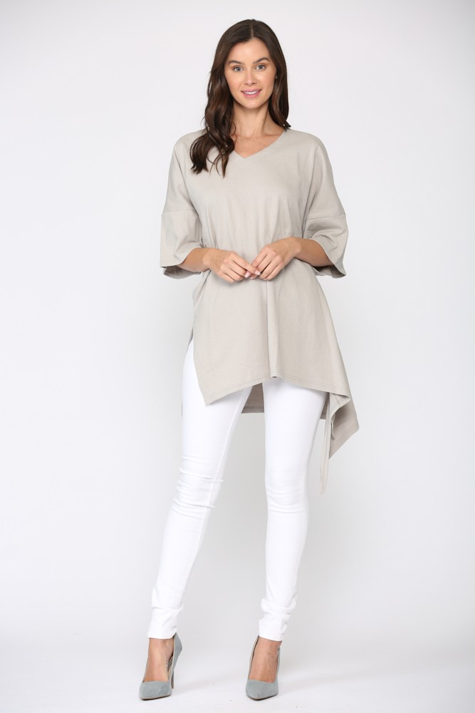 Karen Top -Silver taupe - Front