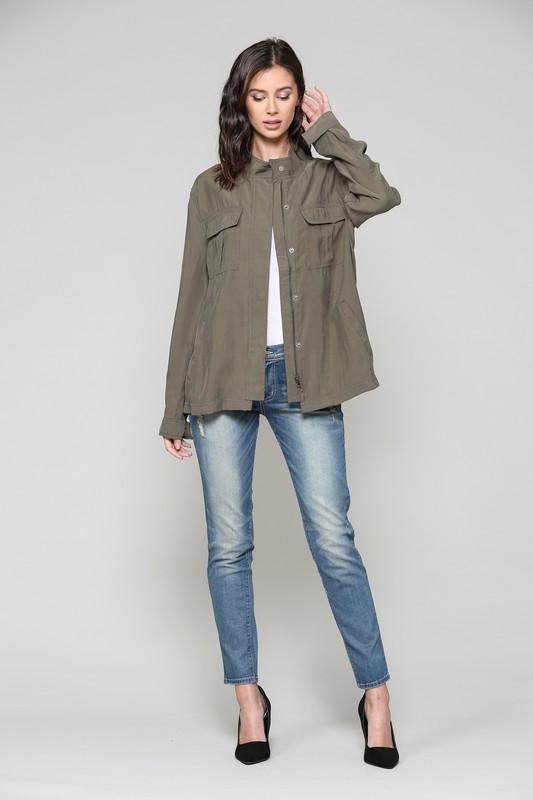 Talia Jacket -Olive - Front
