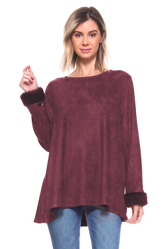 Anabelle Top -Mulberry - Front