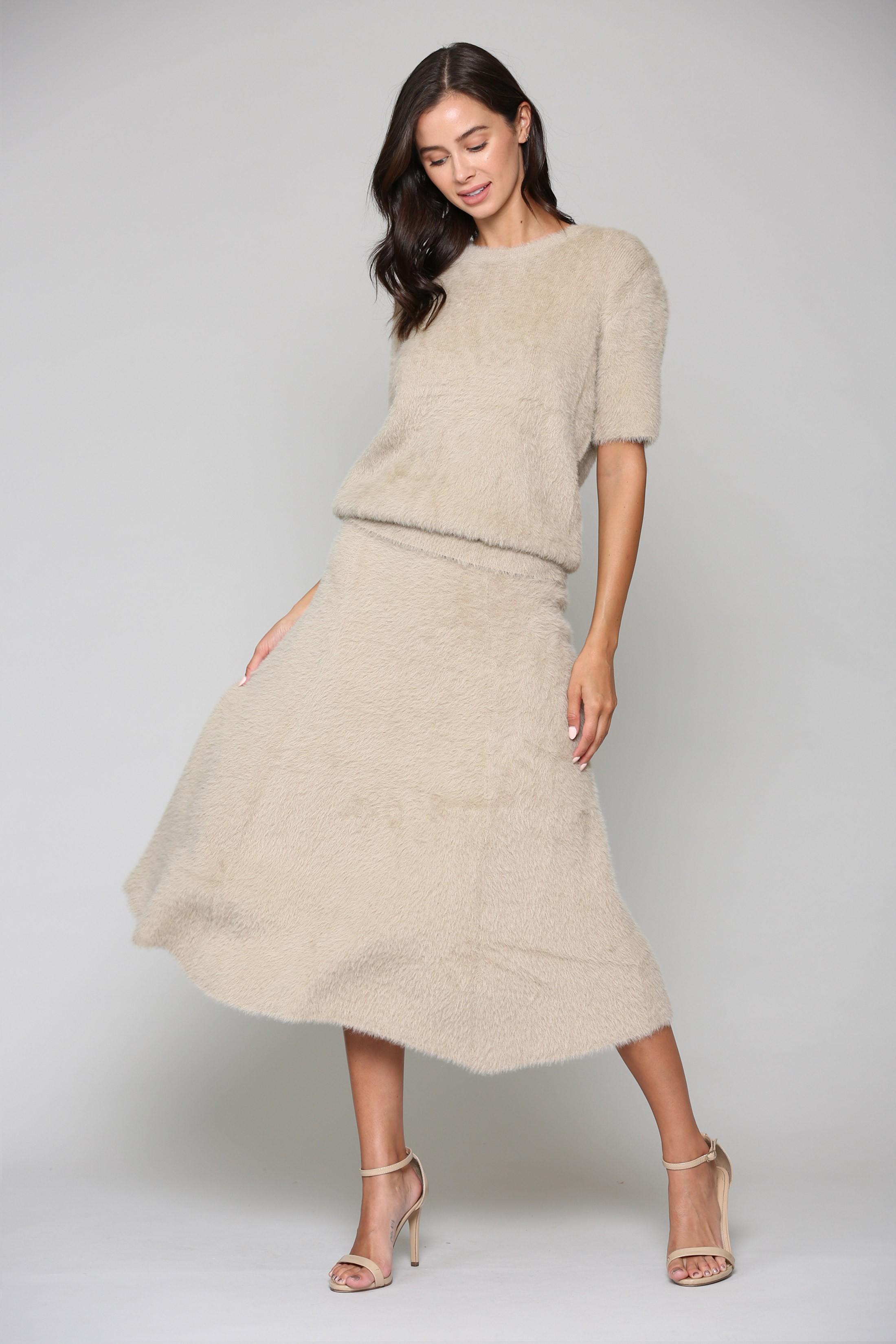 Stephanie Skirt -Khaki - Front