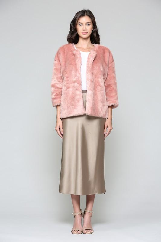 Roxy Crop Jacket - Rose - Front