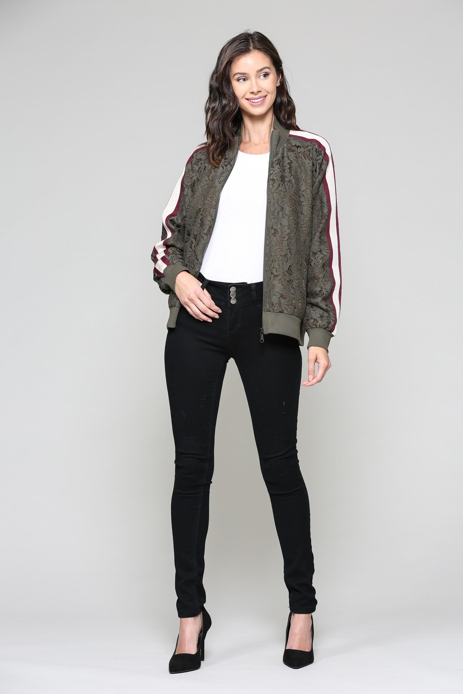 Whitlee Jacket -Olive - Front