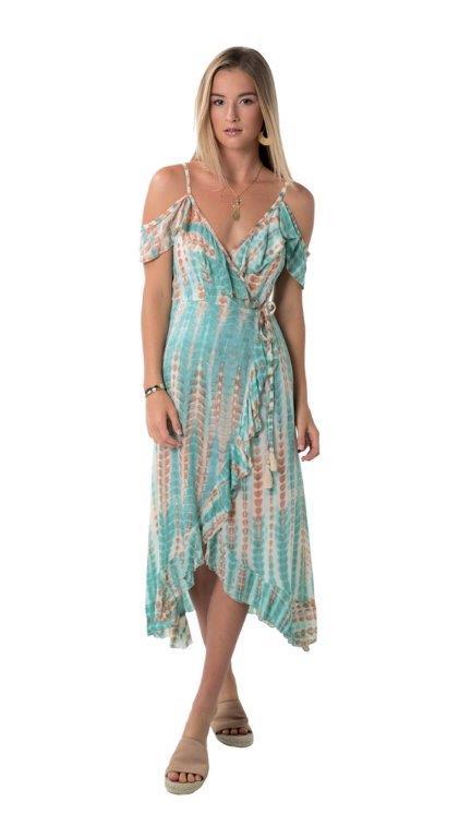 Dress Joya - Arrow green - Front