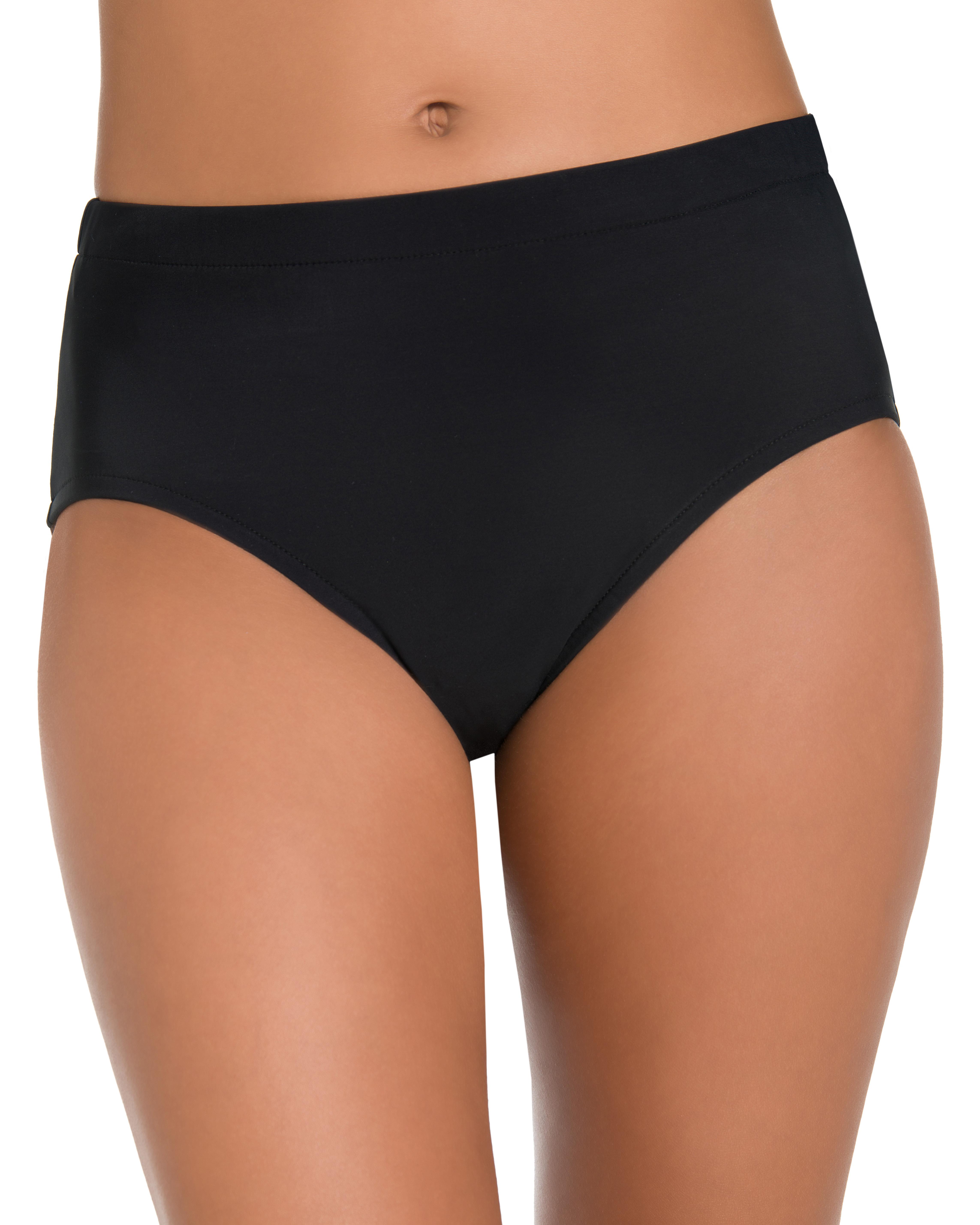 Penbrooke Swimsuit Brief Bottom - Misses -Black - Front