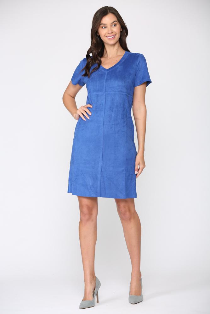 Audrey Tunic Dress -Cobalt - Front