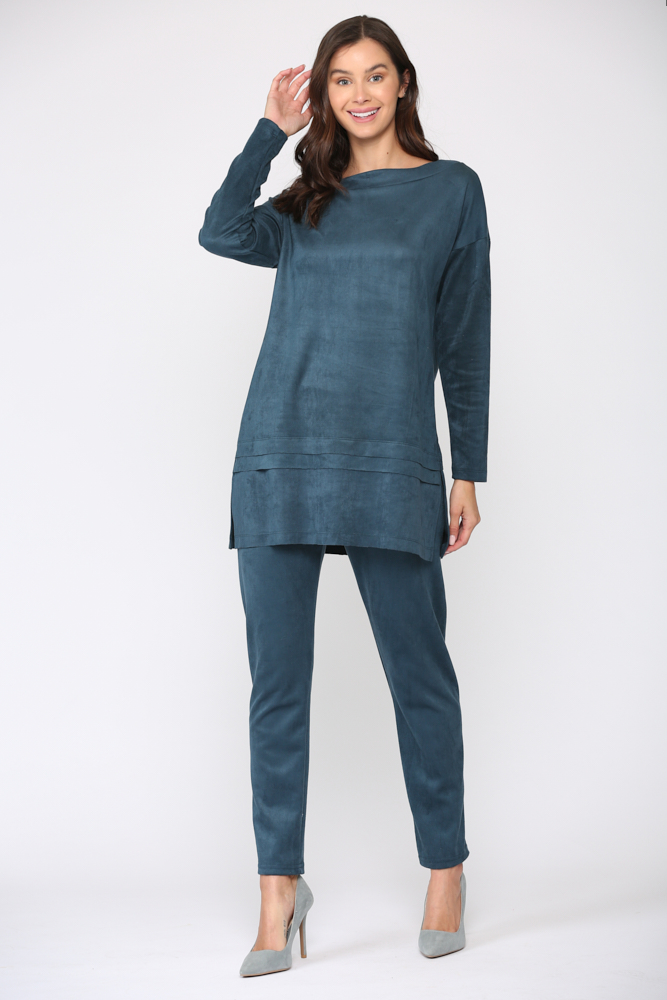 April Tunic Top -Peacock - Front