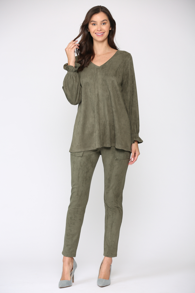 Abigail Top -Olive - Front