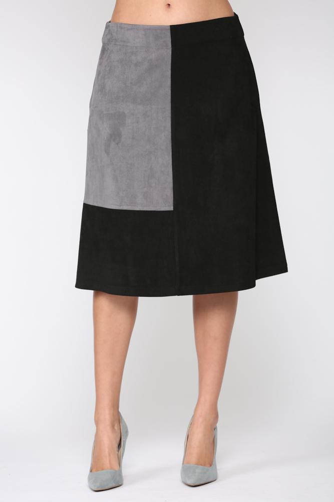 Alexandra Skirt -Gray / Black - Front