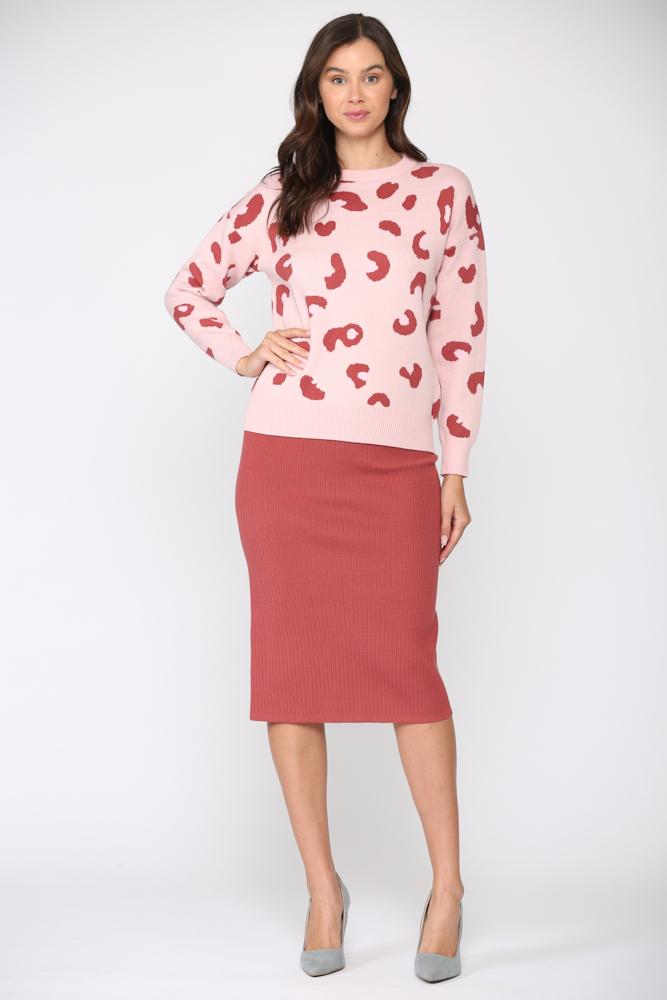 Sharlet Top -Pink red - Front