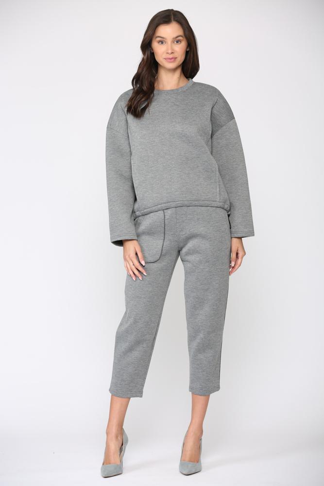 Farren Top -Gray - Front