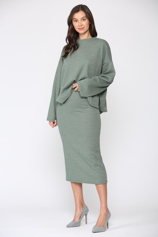 Sancia Skirt - Green - Front