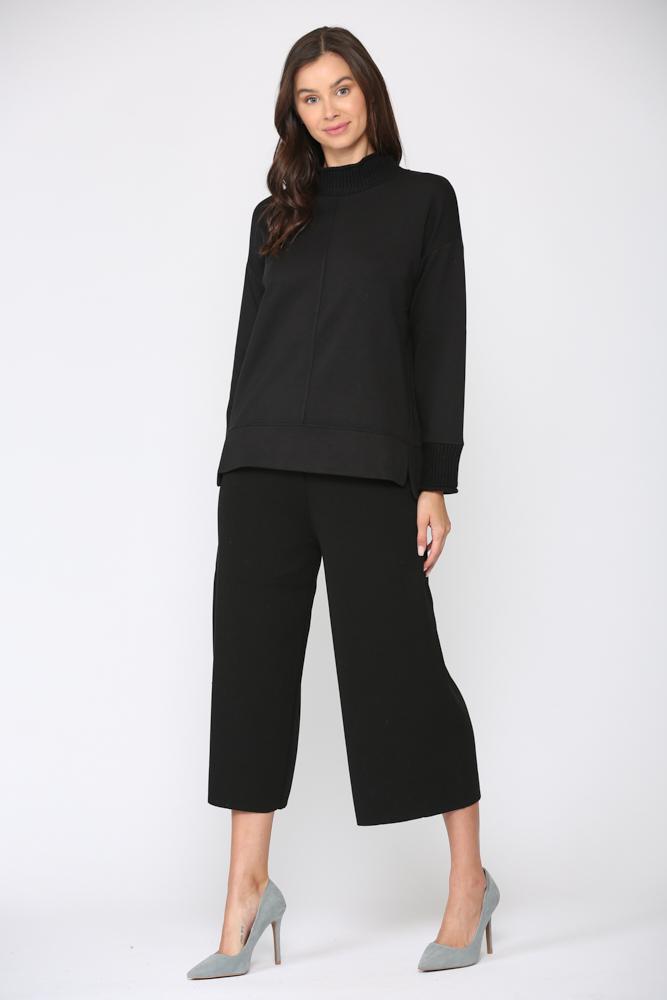 Felisa Knit Top -Black - Front