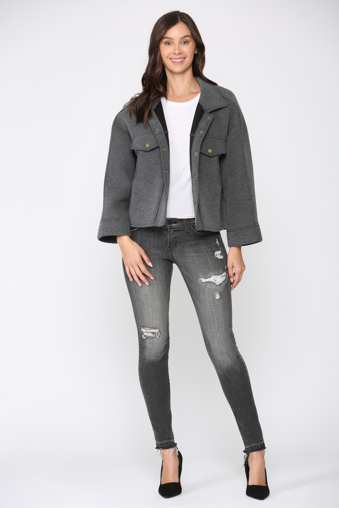 Fannie Jacket -Charcoal - Front