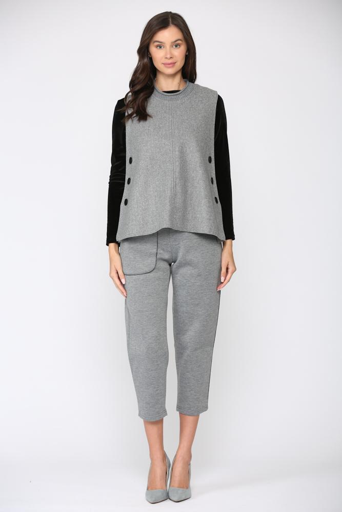Felecia Vest -Gray - Front