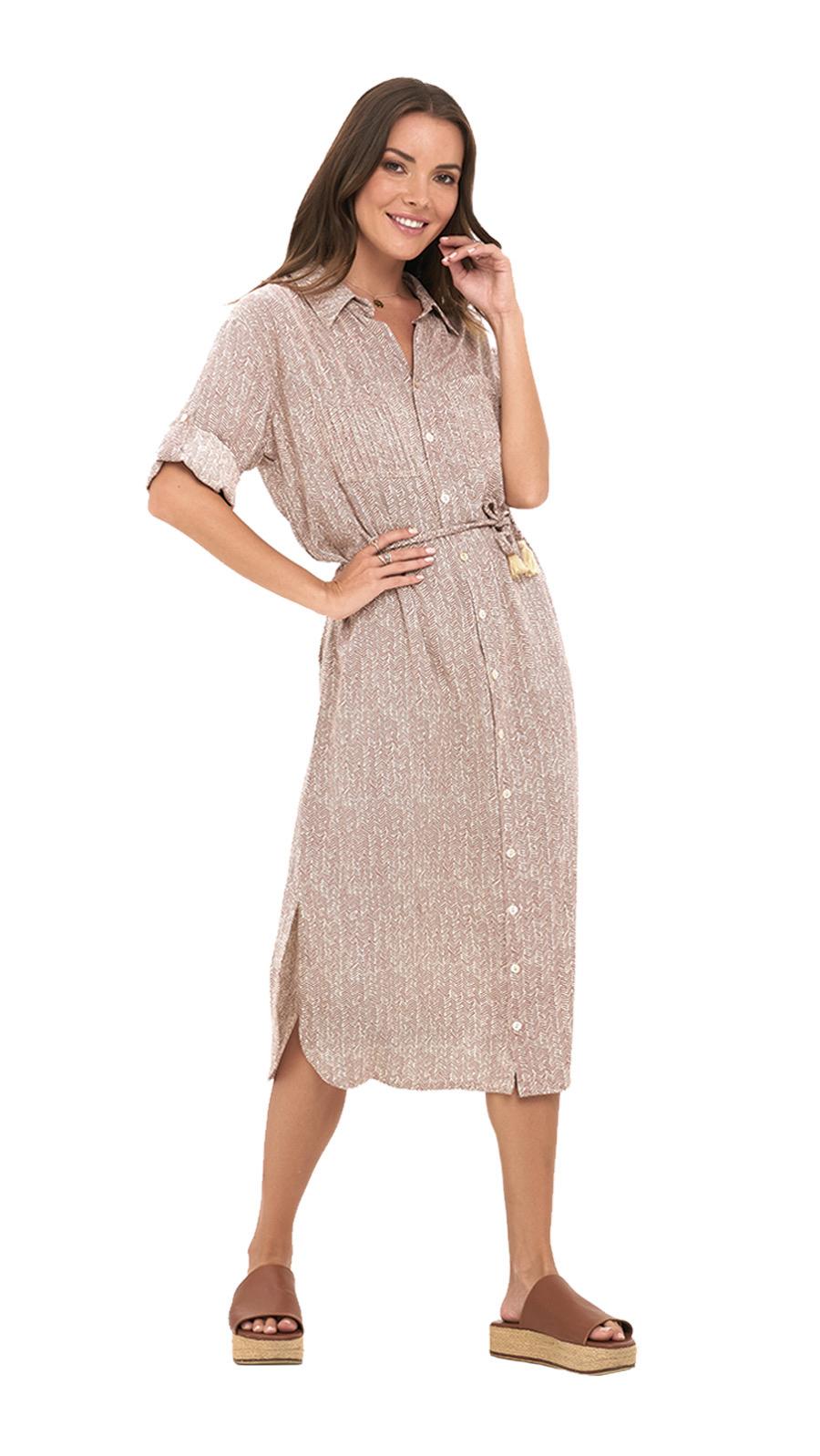 Amandy Dress -Birch-Dust - Front