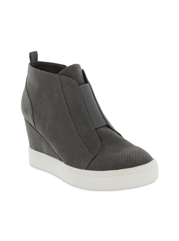 Mia Cristie Wedge Sneaker -grey - Front