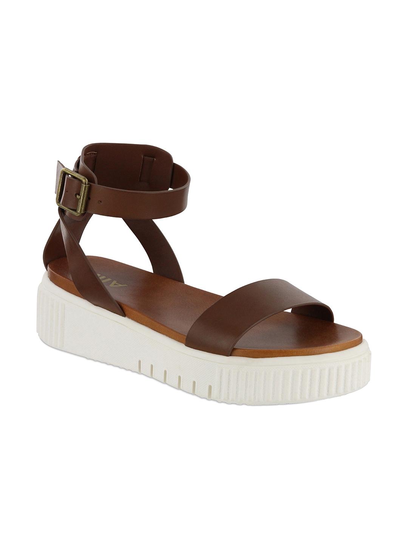 Mia  Lunna Platform Sandal -Cognac - Front