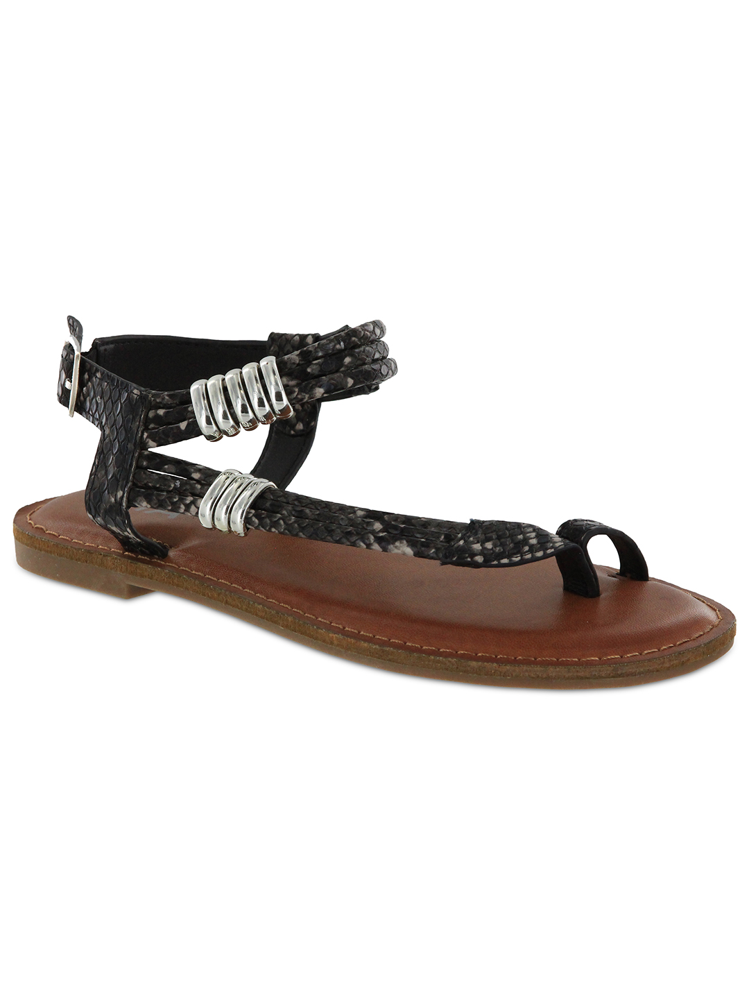 Mia Julianna Sandal - Black Multi - Front