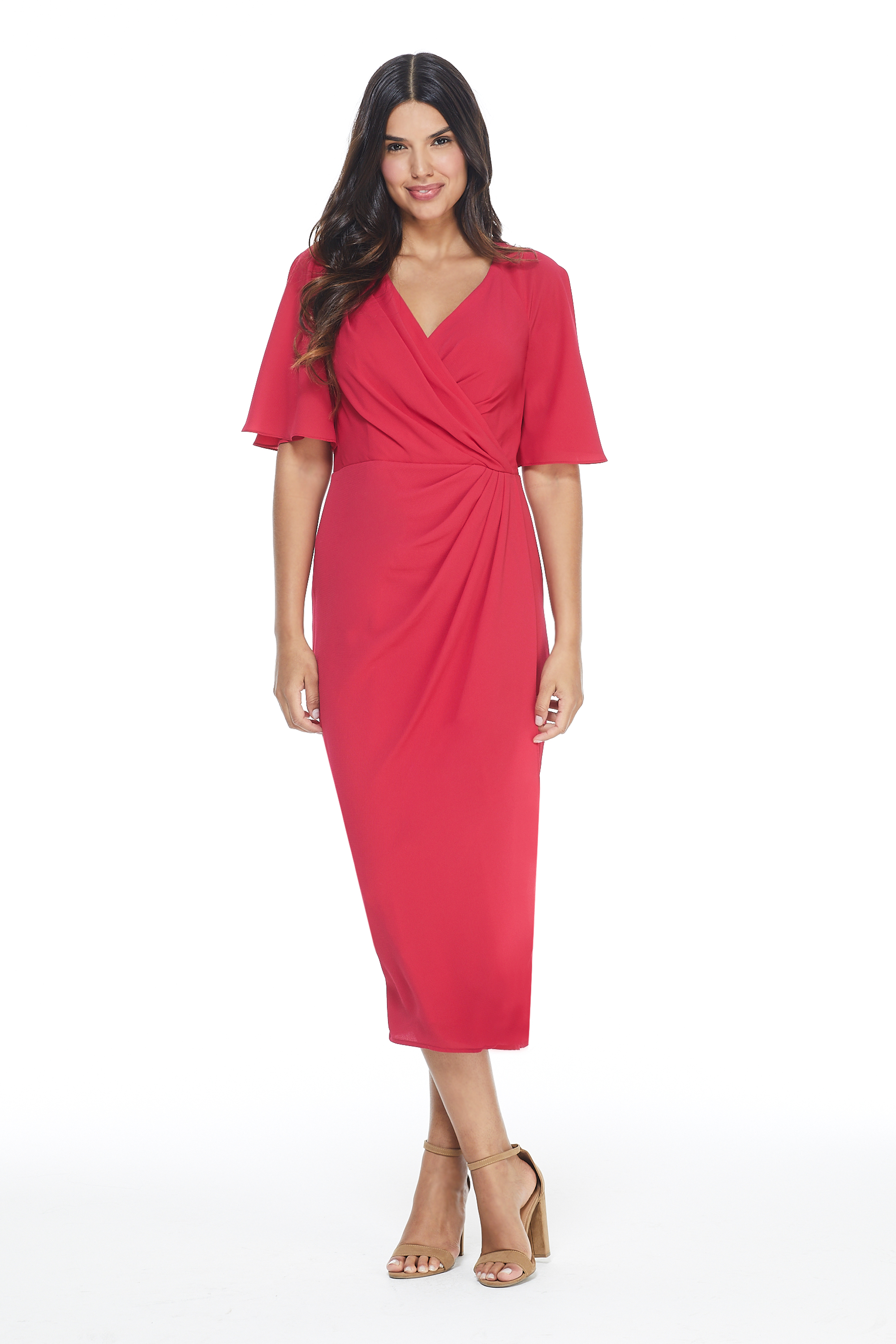 Maggy London Marse Dress -Fuschia - Front
