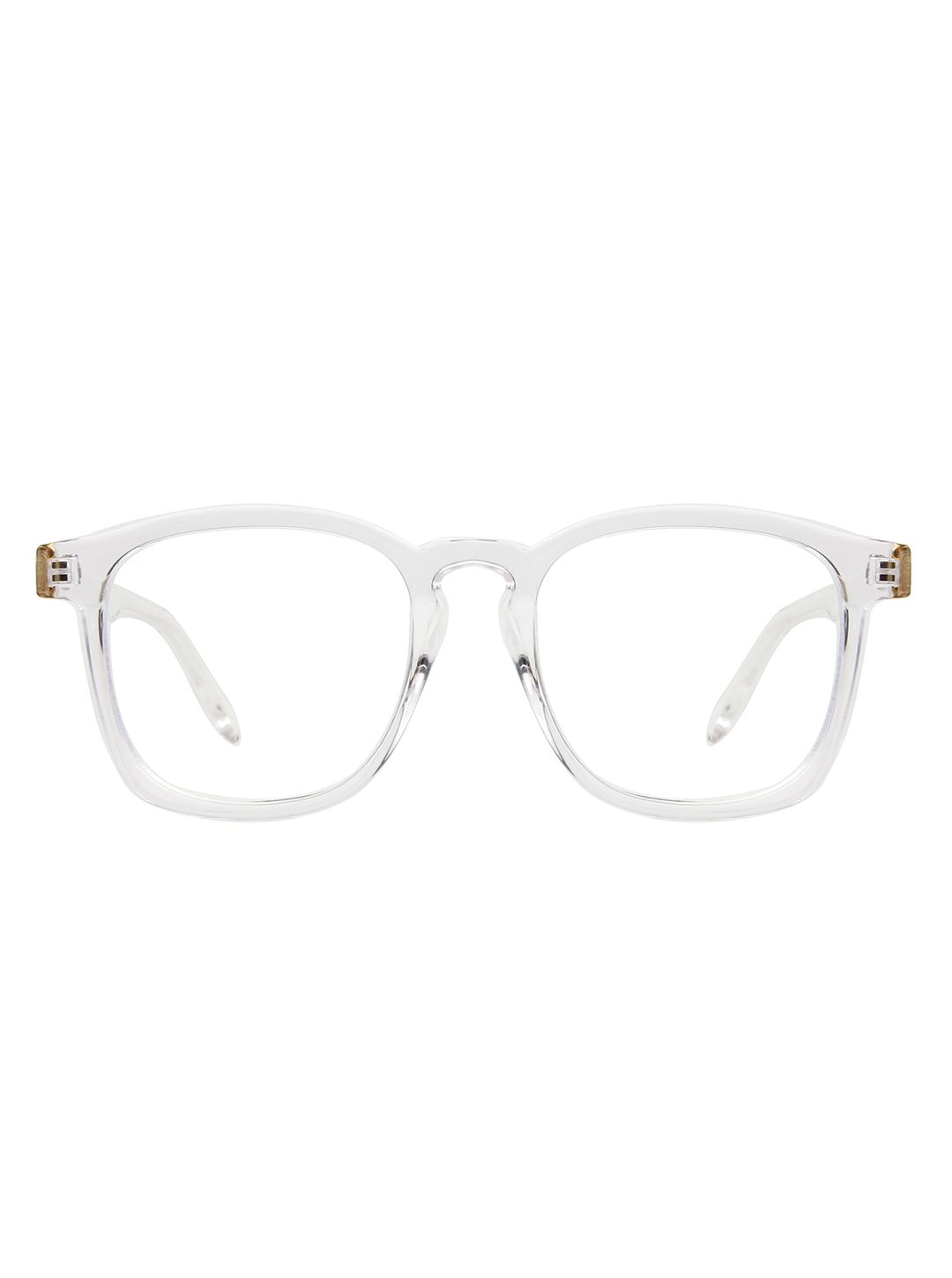 Sleek Square Sunglasses -Clear - Front