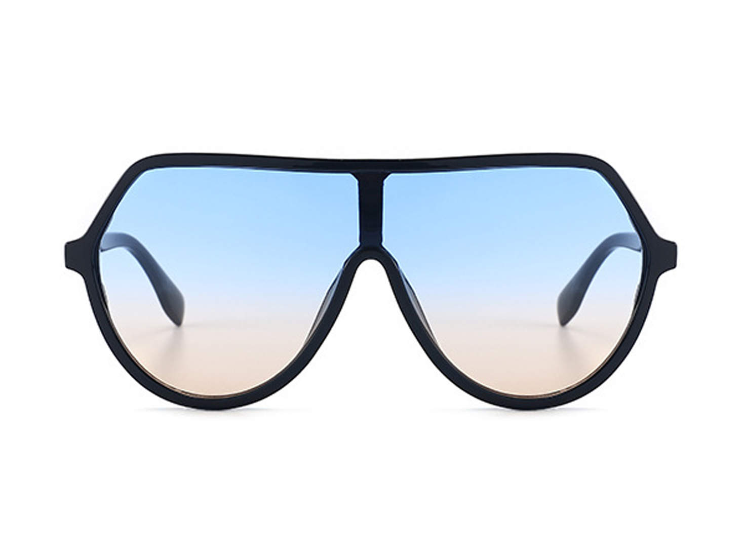 Larger Than Life Aviators -Blue gradient to peach - Front