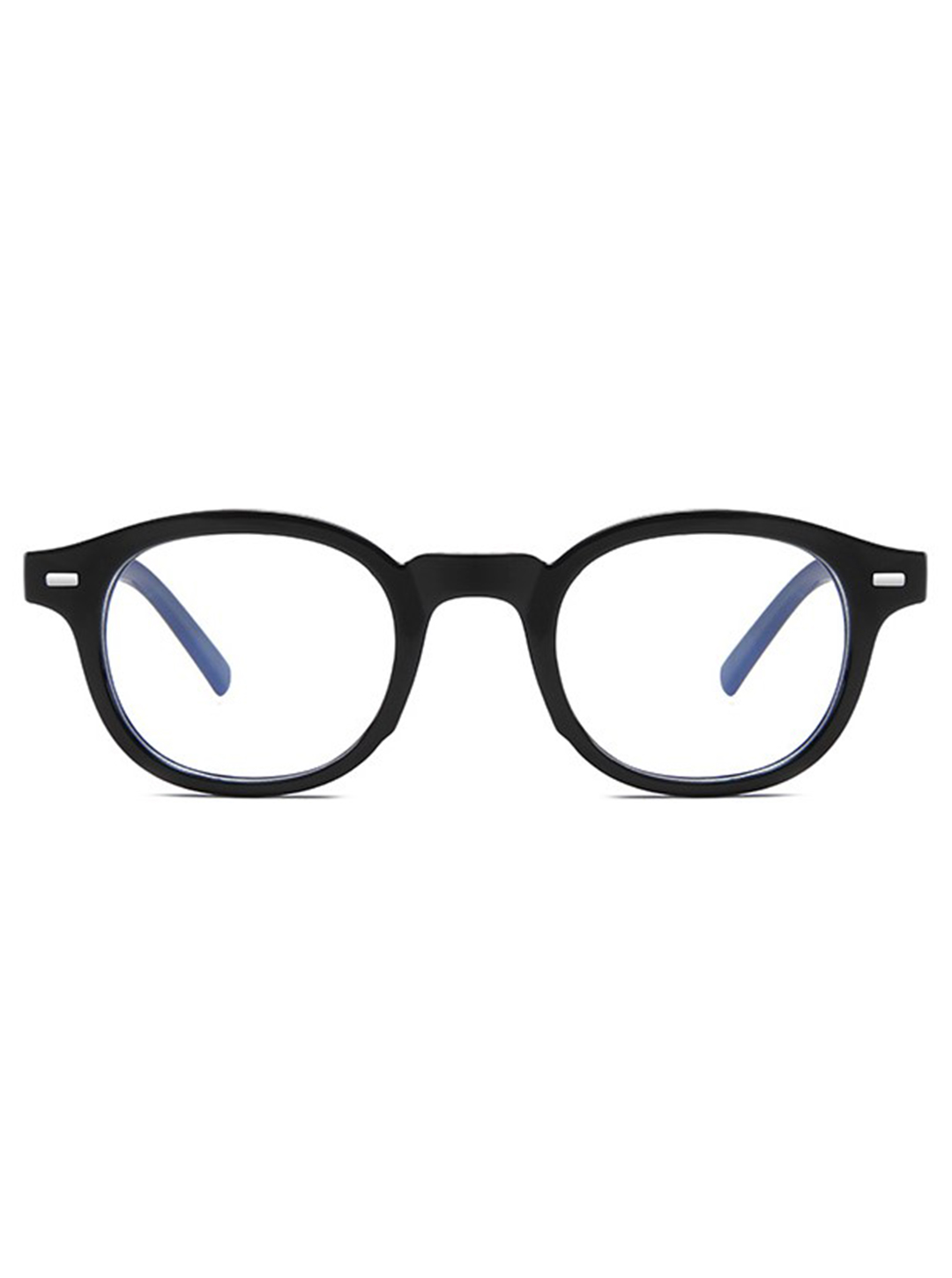 Vintage Square Glasses - Black - Front