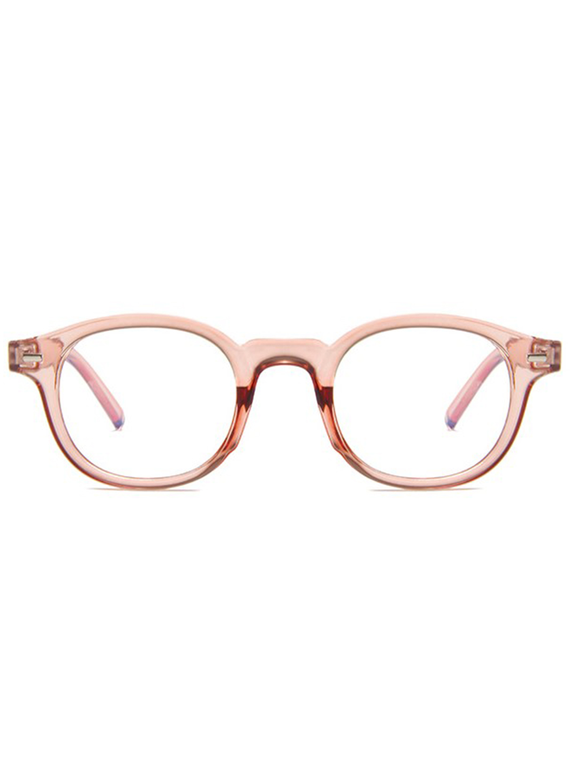 Vintage Square Glasses - Blush - Front