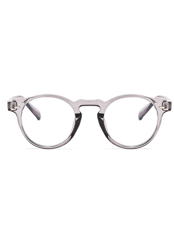 Vintage Round Glasses -Grey - Front