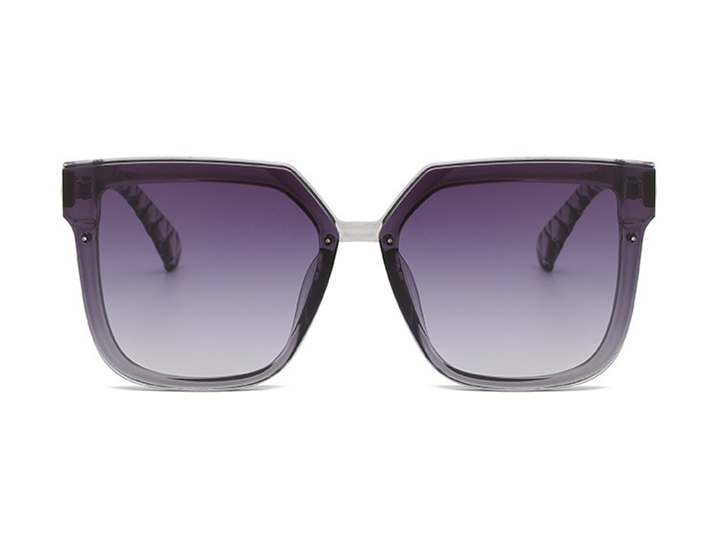 Trailblazer Cat-Eye Shades -Clear / Gradient Purple - Front