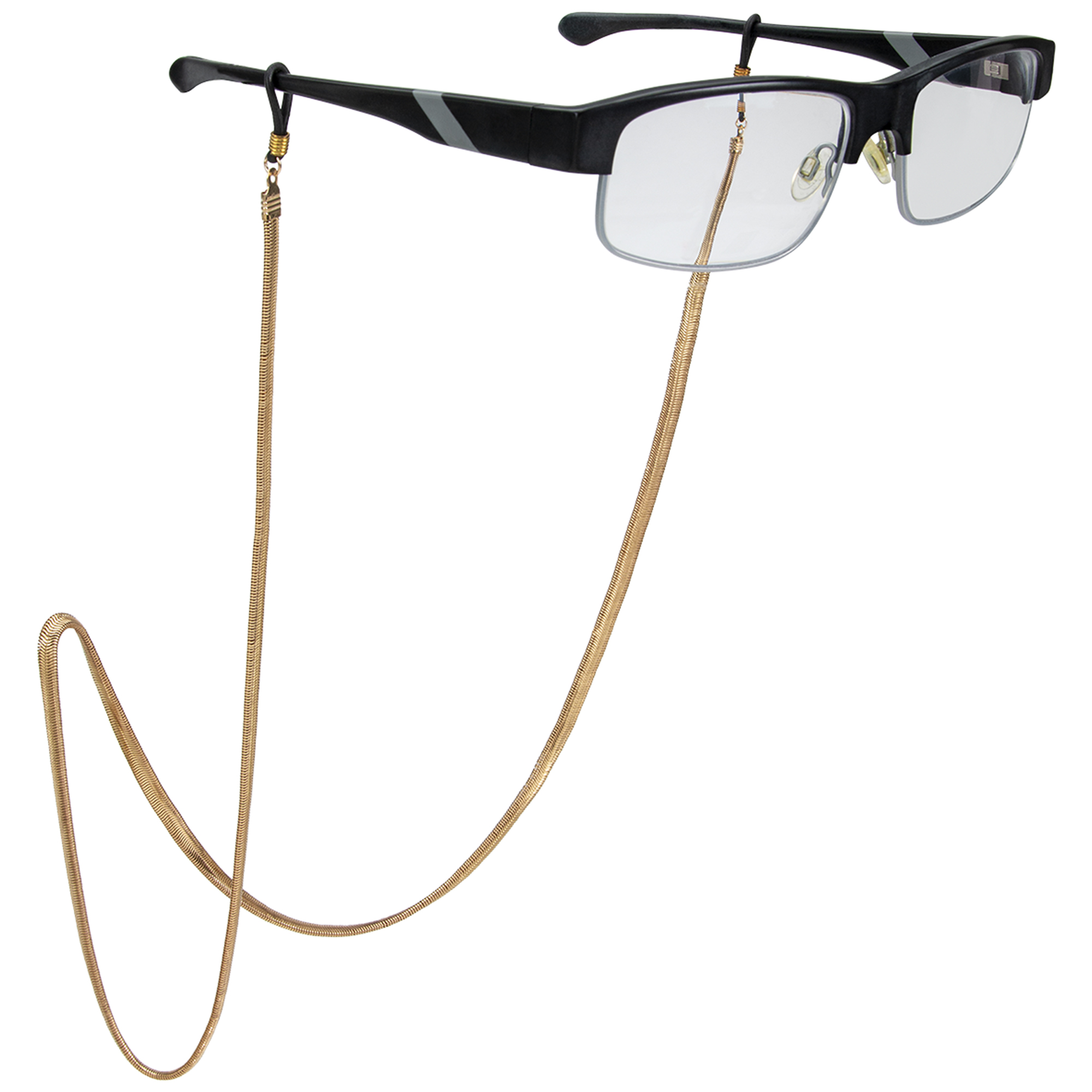 Gold Chain Eyeglass/Sunglass Retainer - Gold - Front