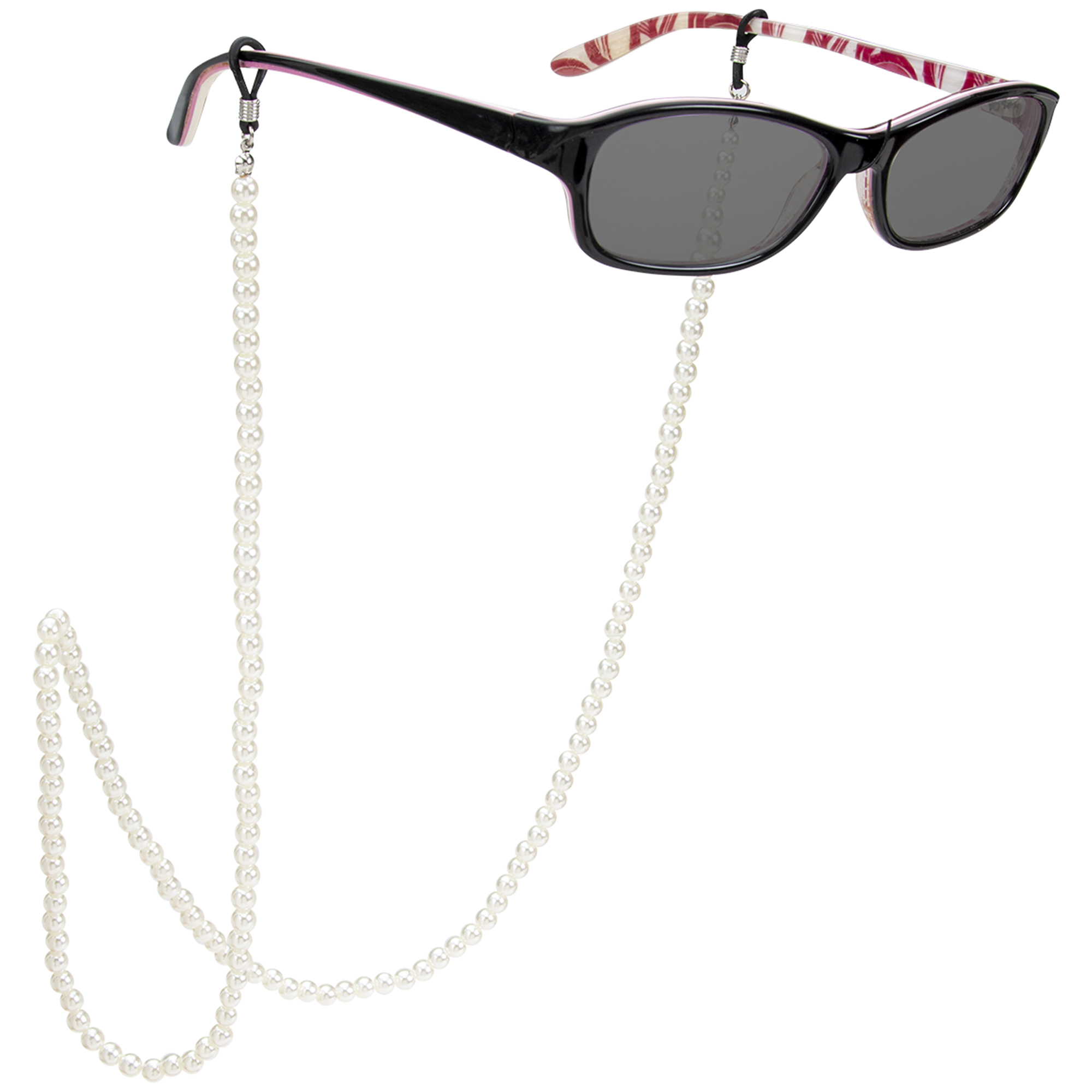 Faux Pearl Eyeglass/Sunglass Retainer -Pearl - Front