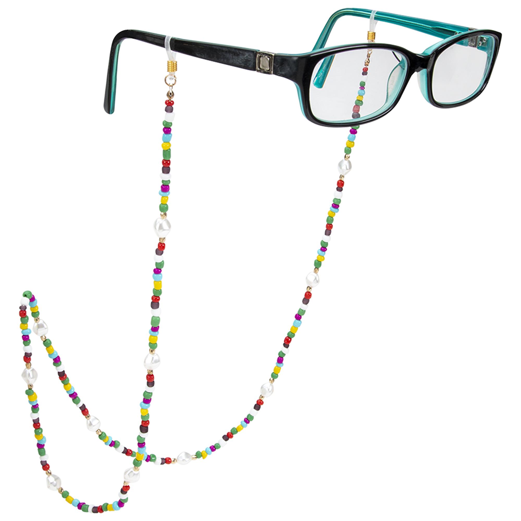 Rainbow Beaded Eyeglass/Sunglass Retainer -Rainbow - Front