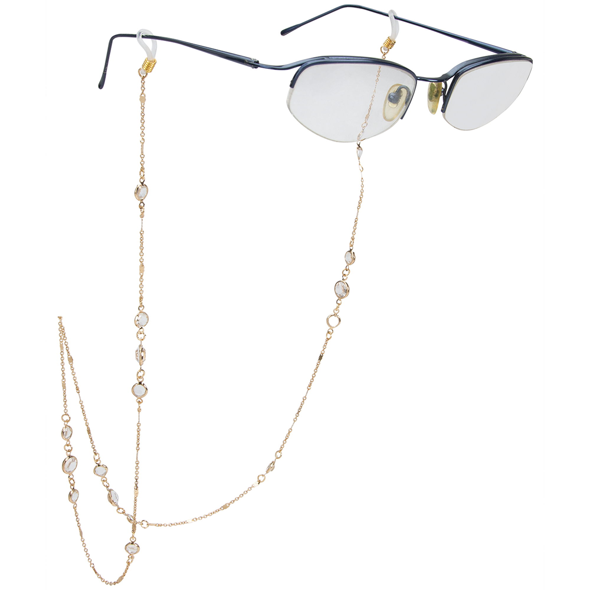 Fancy Droplet Gold Eyeglass/Sunglass Retainer -Gold - Front