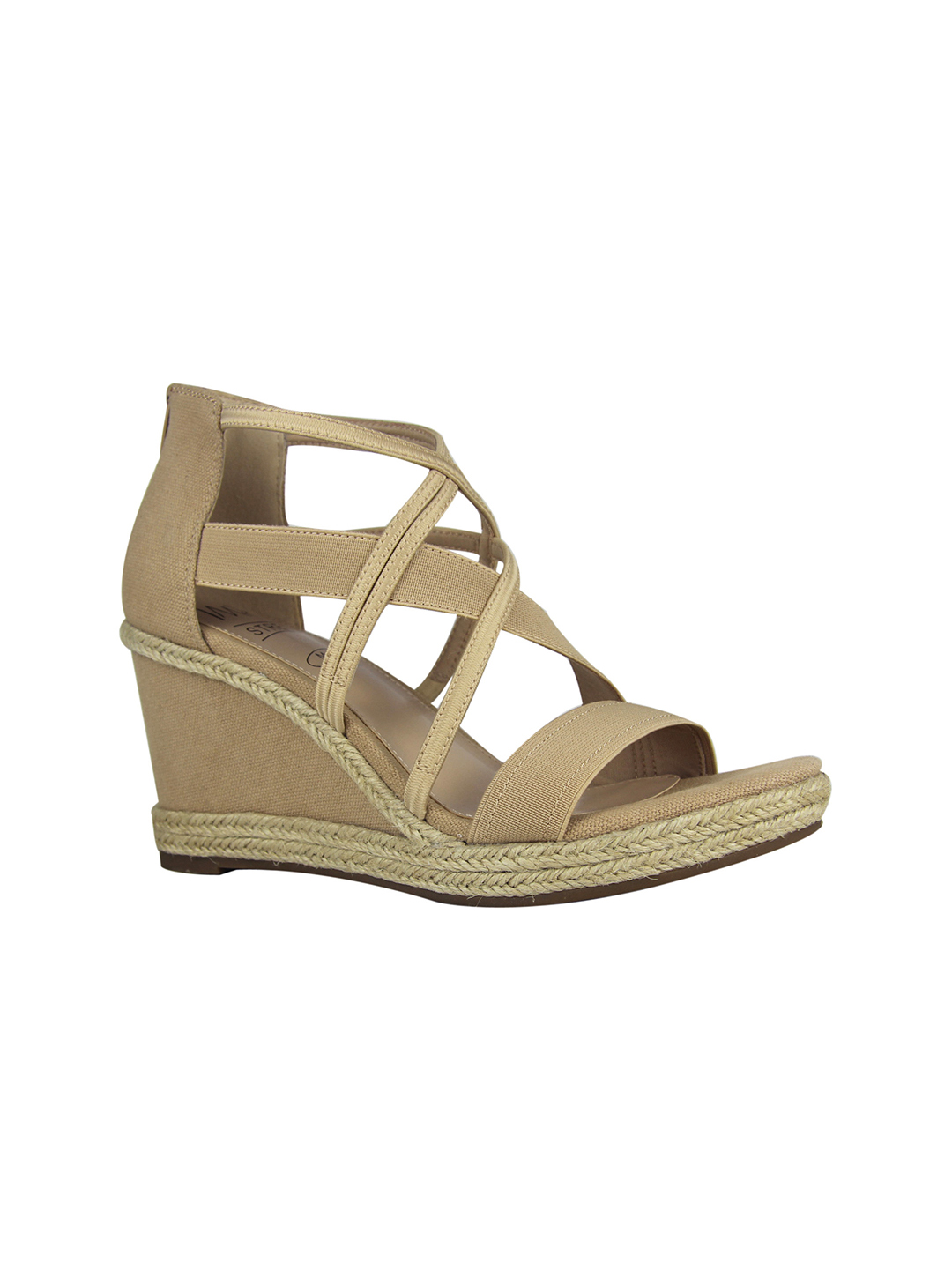 Impo Tacara Wedge Sandals - latte - Front
