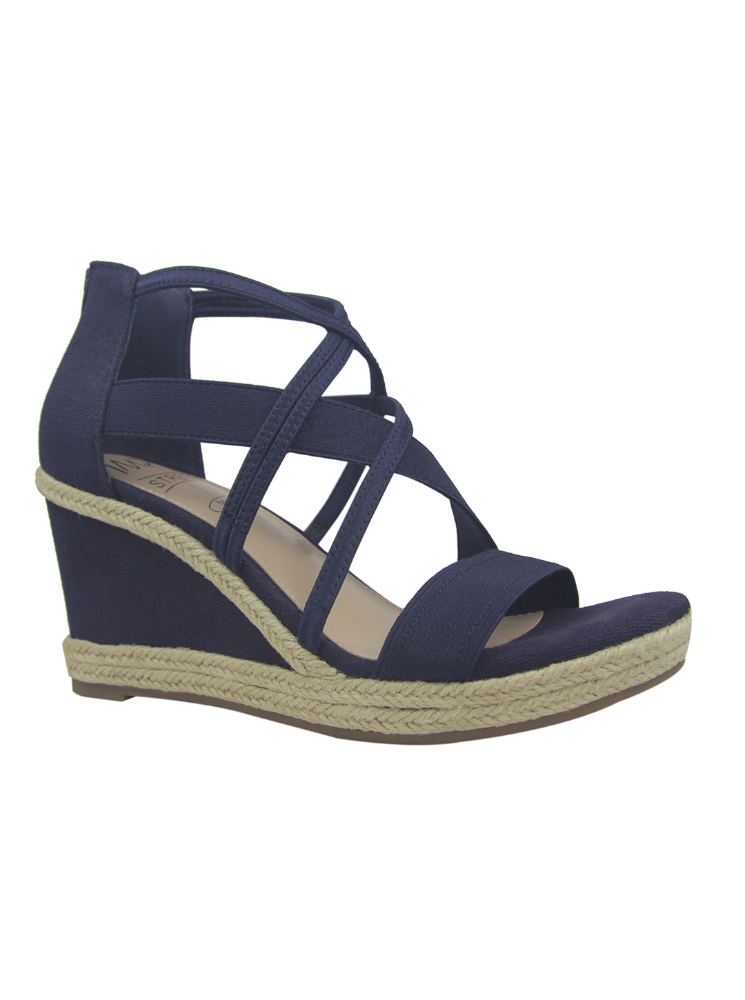 Impo Tacara Wedge Sandals - Midnight blue - Front