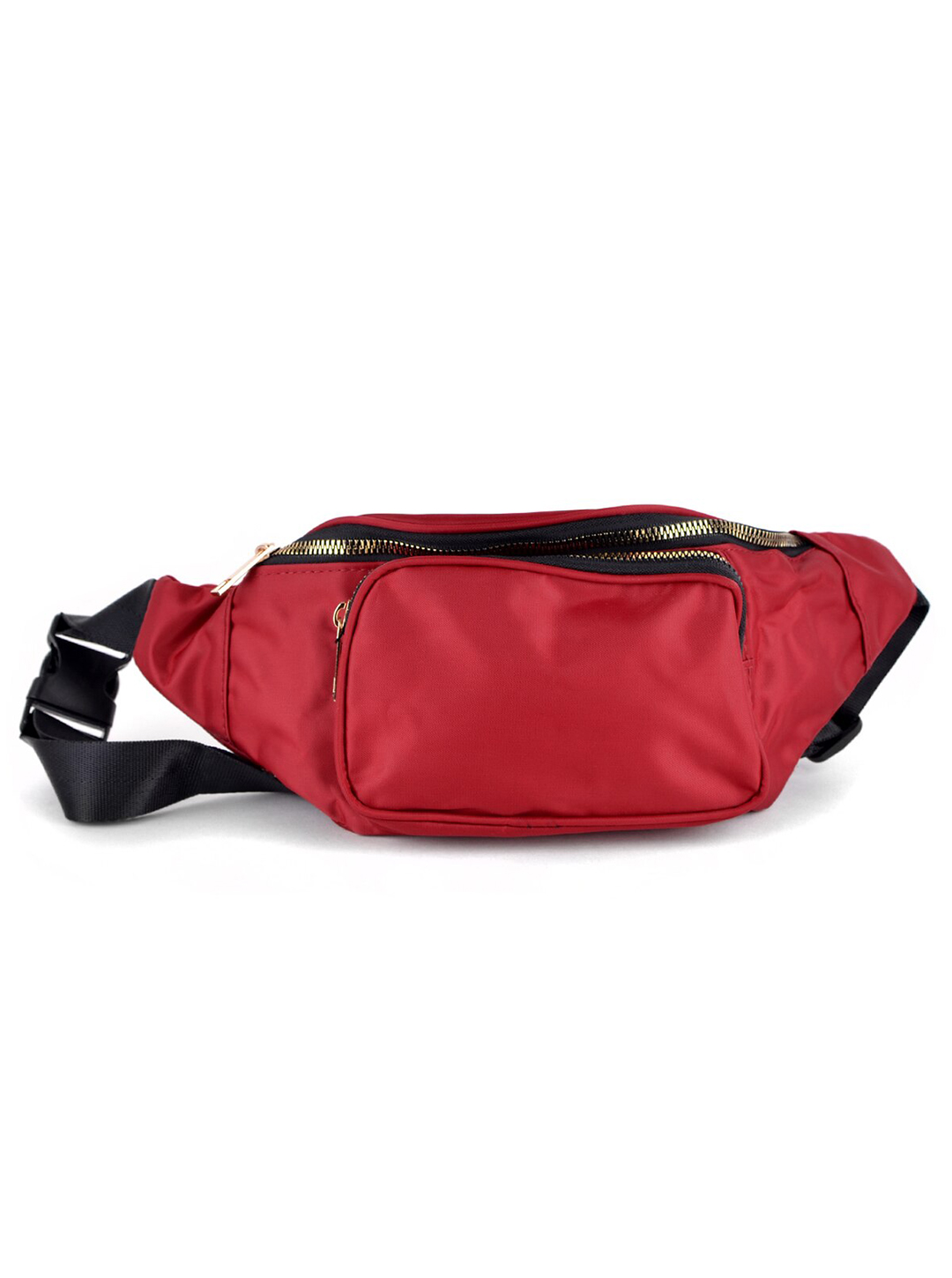 Nylon Fanny Pack - Red - Front