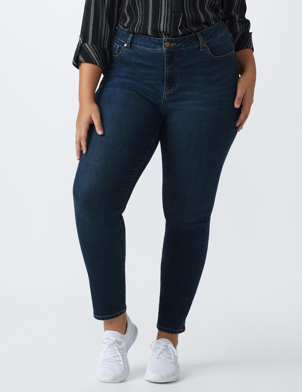 Plus- Westport Signature 5 Pocket Skinny Jean -Dark Wash - Front