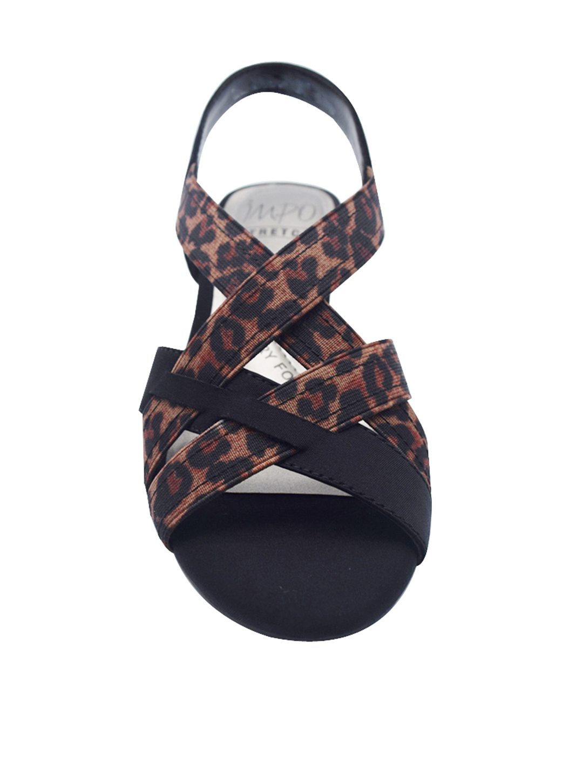 Impo Editha Stretch Sandal - leopard - Front
