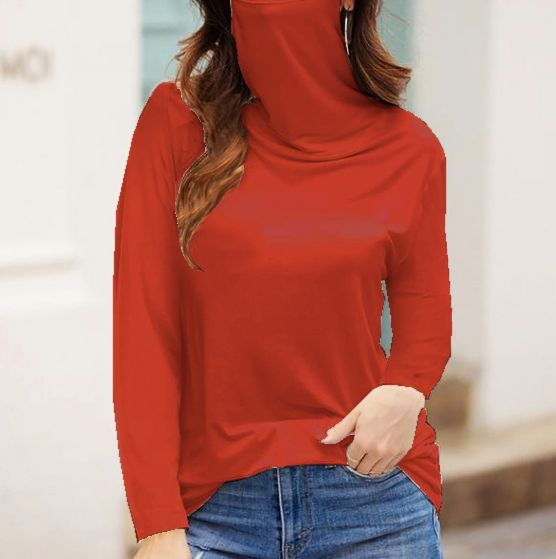 """Never Forget Your Mask"" Fashion Top -Brick - Front"
