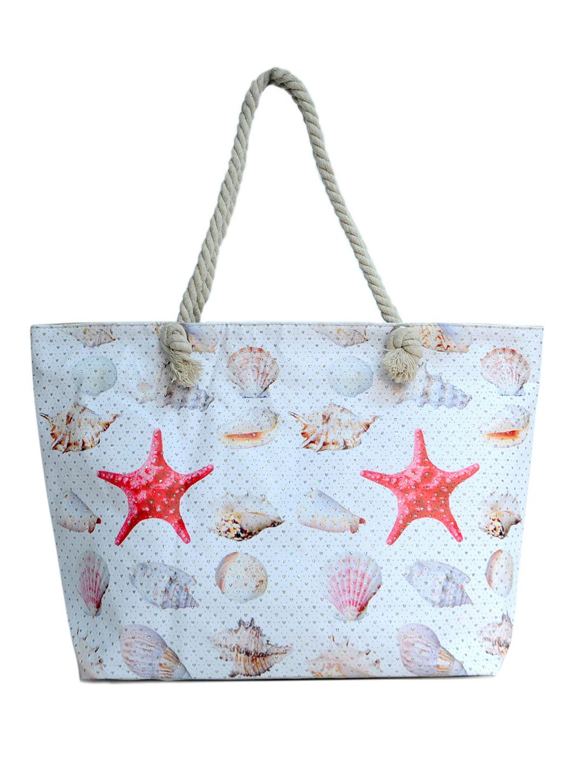 Shells x Starfish Summer Tote Bag -Light Beige - Front