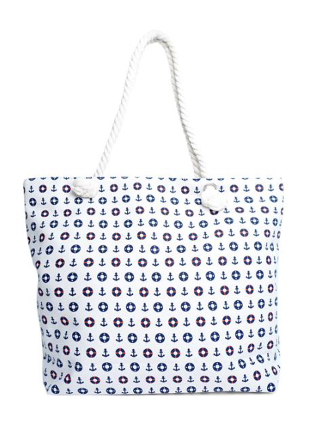 Nautical Summer Tote Bag -White - Front