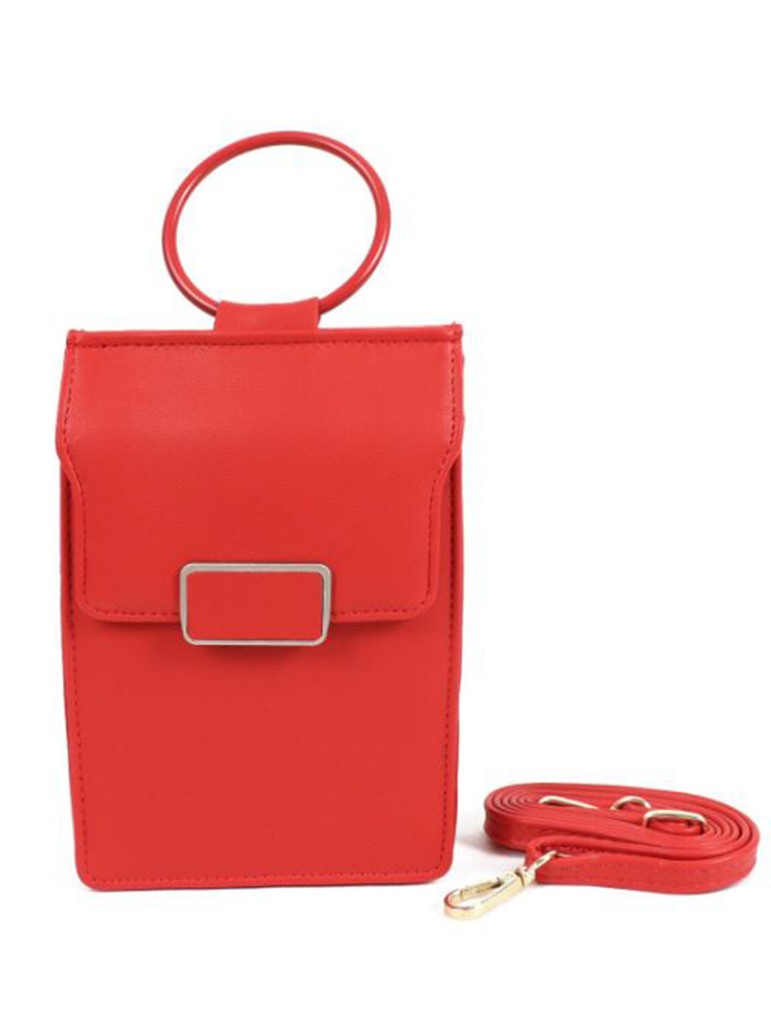Multiuse Wallet/ Bag - Red - Front