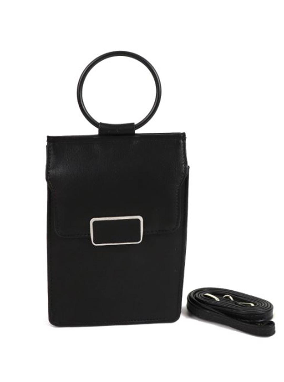 Multiuse Wallet/ Bag - Black - Front