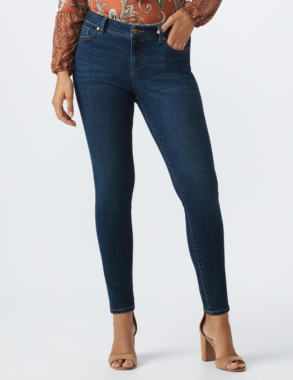 Westport Signature 5 Pocket Skinny Jean -Dark Wash - Front